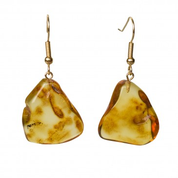 M free form cognac earrings #07