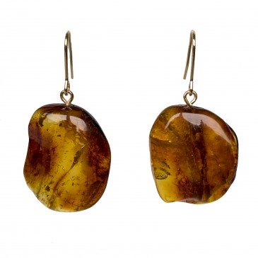 M free form cognac earrings #08