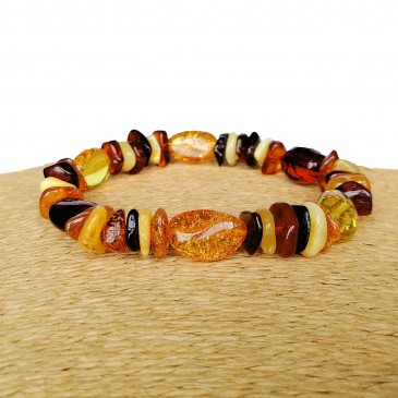 Mix color chips composition bracelet
