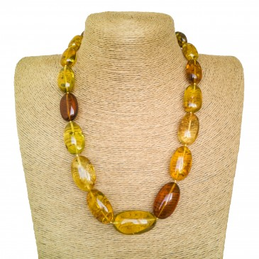 Multicolor copal plums necklace
