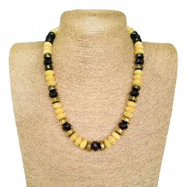 White and burgundy colors various tablets necklace