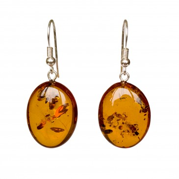 Cognac plums earrings #04