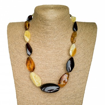 XL twisted mix statement necklace