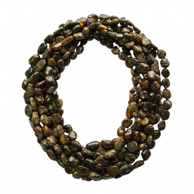 8 pcs of dark green amber necklaces