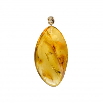 Amber pendant with inclussions #05