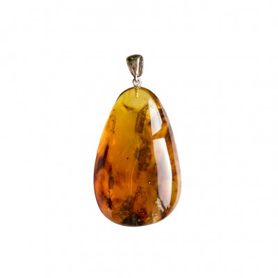 Amber pendant with inclussions #10