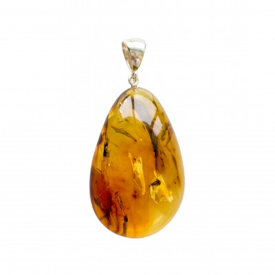 Amber pendant with inclussions #11