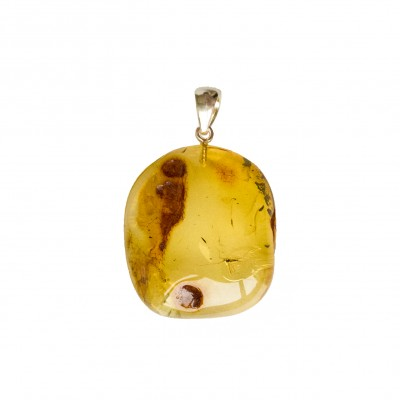 Amber pendant with inclussions #29