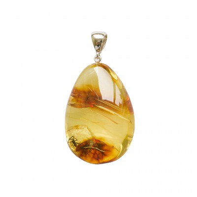 Amber pendant with inclussions #35