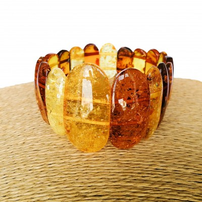 M classy cognac and lemon natural amber bracelet