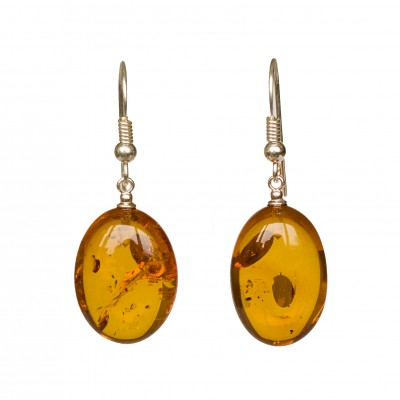 Cognac plums earrings #03