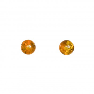 Cognac post earrings #04