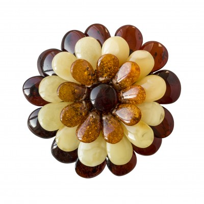 Cognac x matt x  cherry flower brooch