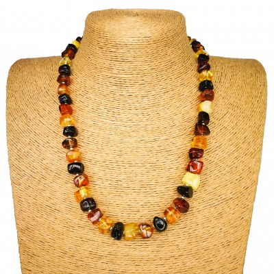 Large multicolor cubes necklace