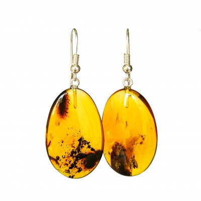 M free form cognac earrings #01