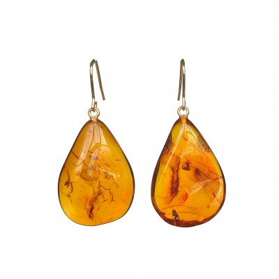 M free form cognac earrings #05
