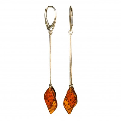 SY earrings with 2 cognac details #03