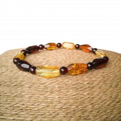 Free form faceted mix bracelet