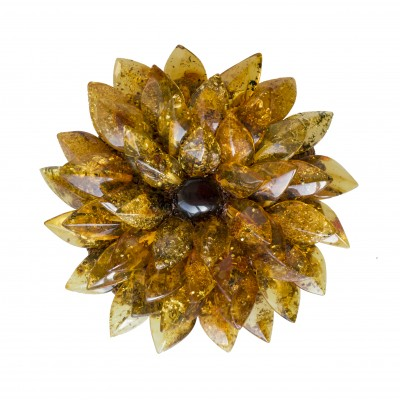 Green dahlia brooch