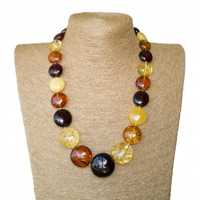 L round mix statement necklace