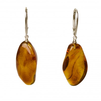 M free form cognac earrings #04
