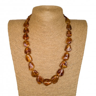 M free form cognac necklace long