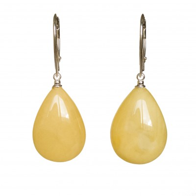 M natural amber matt drops earrings #03