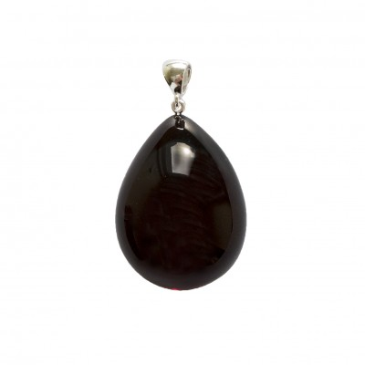 Natural amber cherry color drop pendant #02