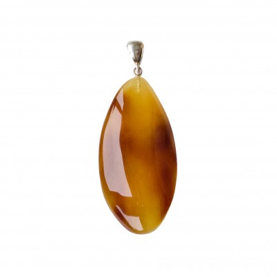Natural amber cognac color drop pendant #05
