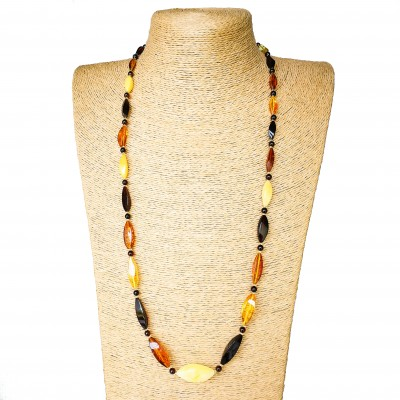 L twisted mix x matt statement necklace very long