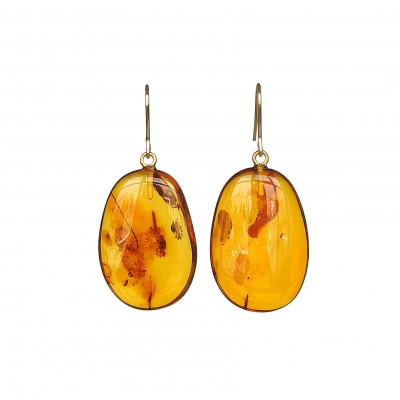 M free form cognac earrings #02