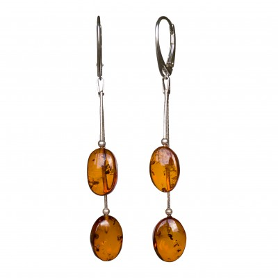 SY earrings with 2 cognac plums
