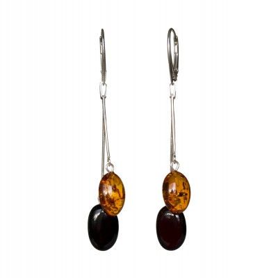 SY earrings with 2 mix color plums #03