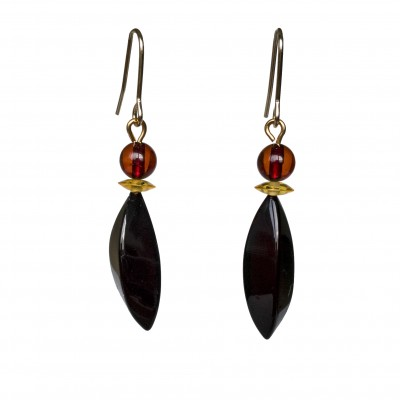 Twisted cherry earrings #02