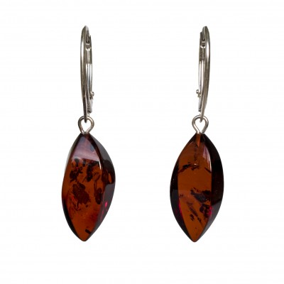 Twisted cognac earrings #02
