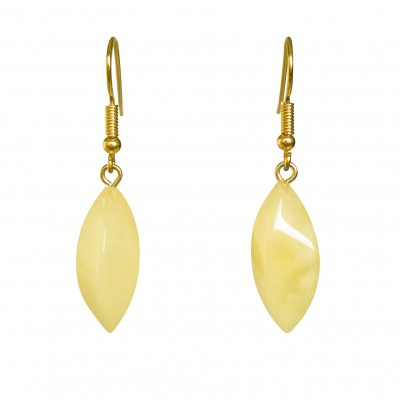 Twisted white earrings #02