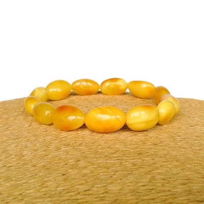 Irregular matt olives bracelet #02